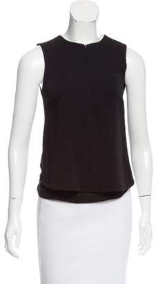 A.L.C. Sleeveless Silk-Trimmed Top