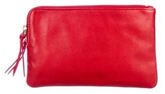 Steven Alan Leather Double-Zip Clutch