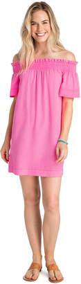 Vineyard Vines Garment Dyed Madison Off The Shoulder Dress