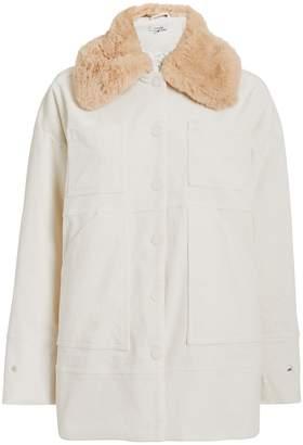 Ganni Ridgewood Corduroy Faux Fur Jacket