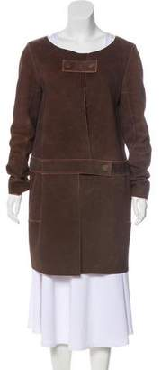 Chloé Suede Knee-Length Coat