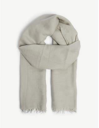 Rick Owens Lavato raw-cut silk cashmere-blend scarf