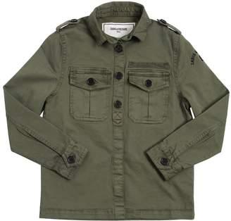 Zadig & Voltaire Cotton Gabardine Jacket W/ Back Print