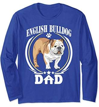 DAY Birger et Mikkelsen English Bulldog Dad Long Sleeve T-shirt Gift For Fathers