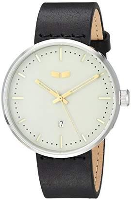 Vestal Roosevelt Italian Leather Stainless Steel Quartz Watch with Calfskin Strap