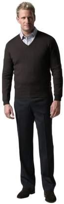 Knightsbridge of Canada Knightsbridge Comfort Stretch Blend Gabardine Wool Mens Dress Pants - Flat Front Olive