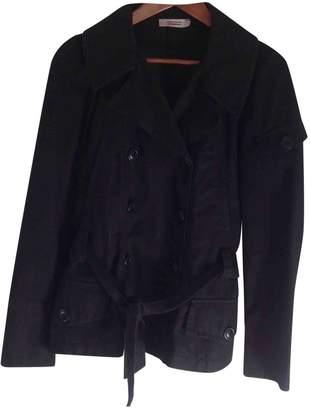 Comptoir des Cotonniers Black Cotton Trench Coat for Women