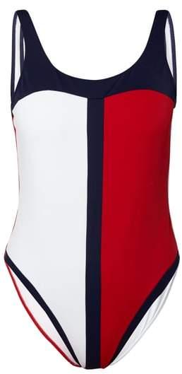 TOMMY HILFIGER UNDERWEAR Badeanzug in Logo-Farben