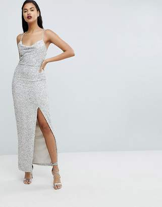 Forever New Allover Sequin Maxi Gown