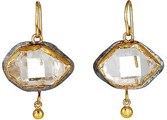Womens Giant Cubic Double-Drop Earrings Judy Geib VOt6YmBvk4