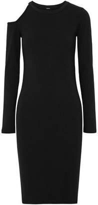 Monrow Cutout Cotton-Jersey Dress