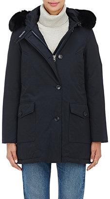 Woolrich John Rich & Bros. Women's Fur-Trimmed Arctic Parka-NAVY $795 thestylecure.com