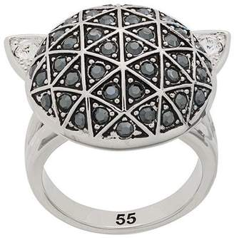 Karl Lagerfeld faceted Choupette ring