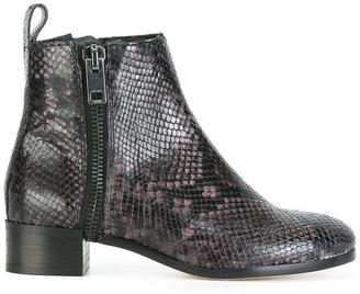 Diesel snakeskin effect ankle boots $376.13 thestylecure.com