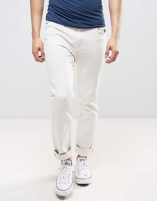 Lee Rider Slim Fit Jeans Off White Wash