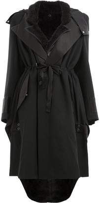 Undercover hooded trench coat