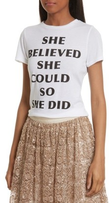 Women's Alice + Olivia Cicely She Believed Communi-T Tee $125 thestylecure.com