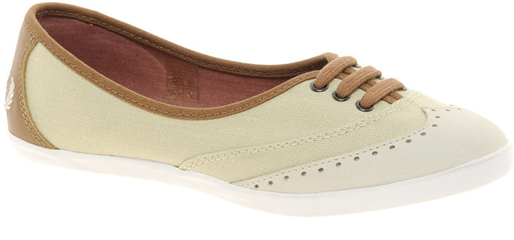 Fred Perry Larks Linen Canvas Plimsolls