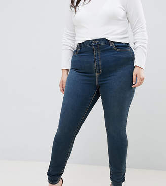 Asos DESIGN Curve Sculpt me premium jeans in viola london blue