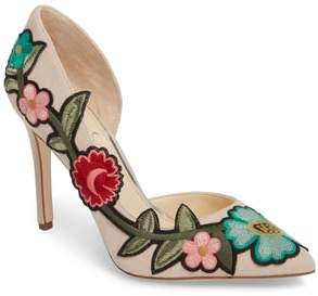Jessica Simpson Pristina Floral Applique Pump