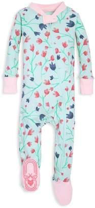Burt's Bees Bethel Woods Floral Print Organic Baby Zip Up Footed Pajamas