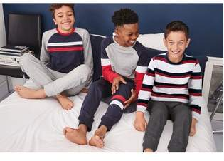 Next Boys Red/Blue Stripe Pyjamas Three Pack (3-16yrs)