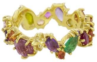 Sharon Khazzam Multicolored Gemstone Zig Zag Ring