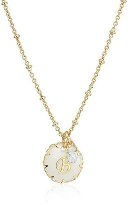 lonna & lilly Gold Tone Initial Pendant Necklace