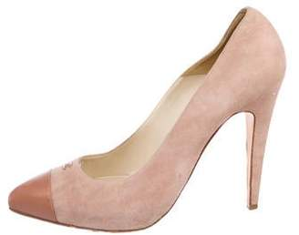 Chanel Suede Pointed-Toe Pumps