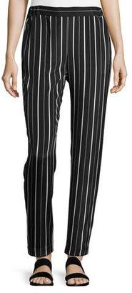 St. John Collection Sahara Striped Relaxed Pants, Black/White $495 thestylecure.com