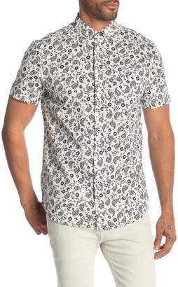 Report Collection Floral Print Short Sleeve Shirt