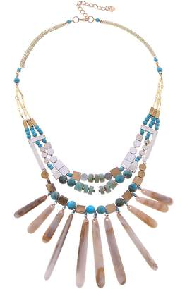 Nakamol Design Stone & Shell Collar Necklace