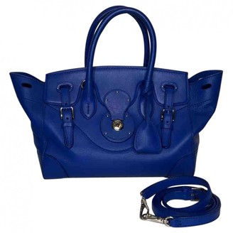 Ralph Lauren Ricky Navy Leather Handbags