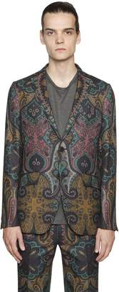Etro Paisley Cool Wool Jacquard Jacket