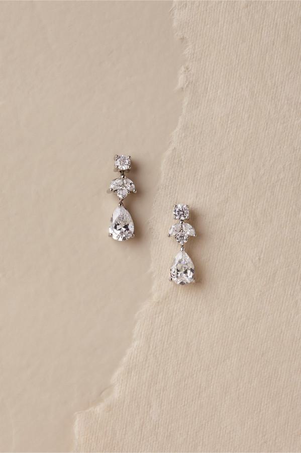 Kenneth Jay Lane Petite Crystal Drop Earrings