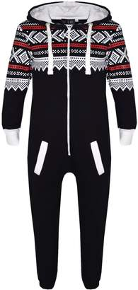 A2Z 4 Kids® Kids Girls Boys Aztec Snowflake A2Z Onesie One Piece Jumpsuit Playsuit 7-13 Year