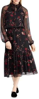 Ralph Lauren Floral Print Peasant Dress