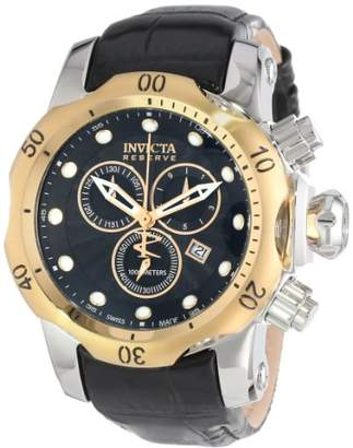 Invicta Men's 10815 Venom Reserve Chronograph Textured Dial Leather Watch