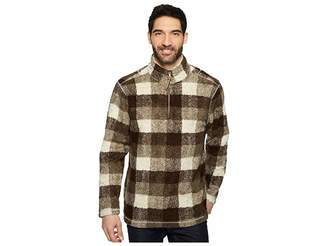 True Grit Melange Buffalo Plaid 1/4 Zip Pullover Men's Clothing