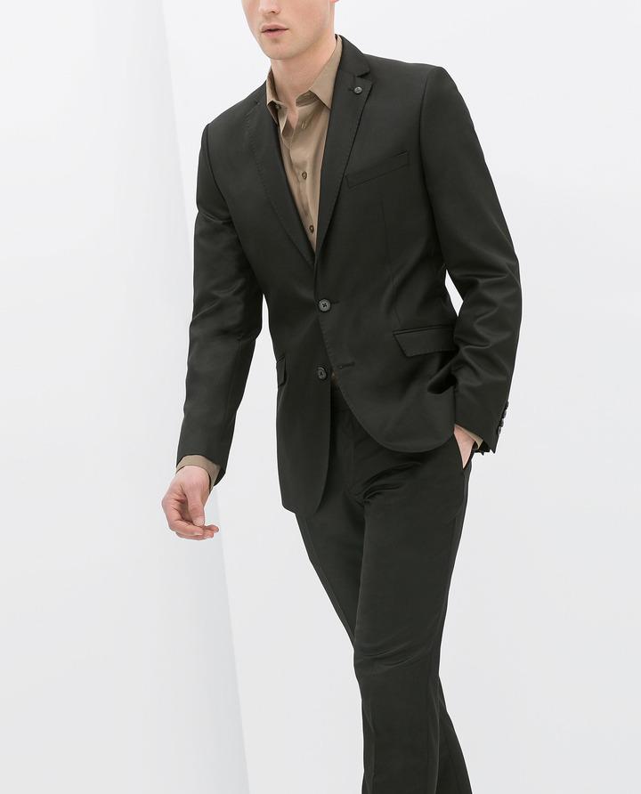 Zara Basic Cinzato Suit