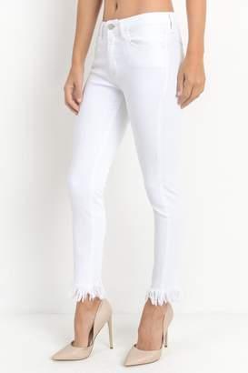 Just Black Fray Hem Jeans