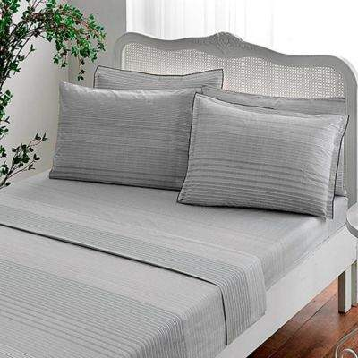 Brielle Stripes Full Sheet Set in Grey