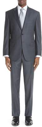 Canali Classic Fit Houndstooth Wool Suit