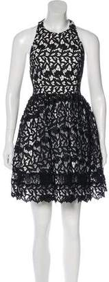 Alice + Olivia Lace Sleeveless Mini Dress