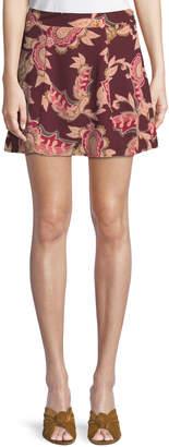 Show Me Your Mumu Huck Floral-Paisley Mini Skirt