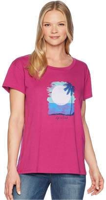 Life is Good Sunset In Paradise Breezy Tee Women's T Shirt