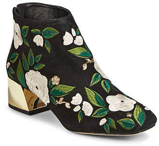 Karl Lagerfeld PARIS Harlow Embroidered Booties