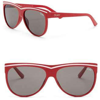 Quay Hollywood Nights 55mm Shield Sunglasses