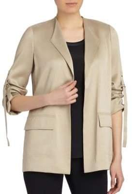 Lafayette 148 New York Halden Open-Front Silk Jacket