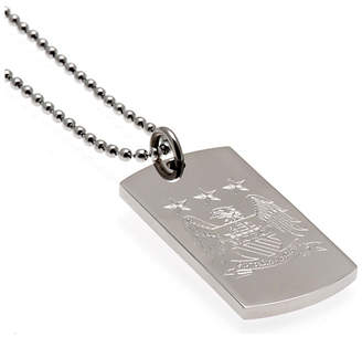 Manchester City Stainless Steel Man City Dogtag and Chain